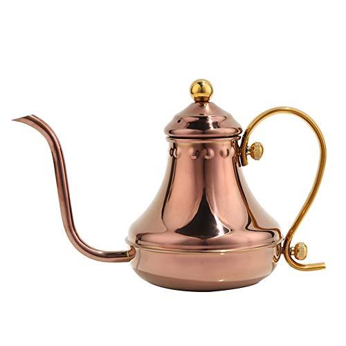 Kaffeekanne hand tropf lange mund kaffeekanne, 304 edelstahl brauen topf mini retro topf 430cc (1-3 portionen)-3