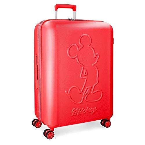 Trolley Topolino Mickey Disney Premium da Viaggio CM. 68x48x27 Rosso in ABS - 3418861