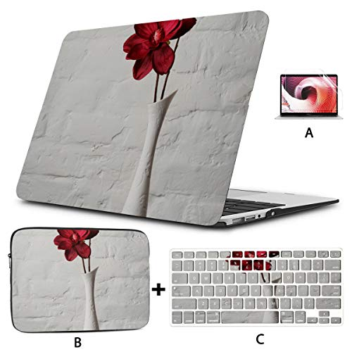 Mac Book Covers Exquisite Decorative Vase 13 MacBook Pro Case Hard Shell Mac Air 11'/13' Pro 13'/15'/16' with Notebook Sleeve Bag for MacBook 2008-2020 Version