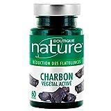 Boutique Nature – Complemento alimentario – Carbón vegetal activado – 60 cápsulas vegetales – Digestión fácil