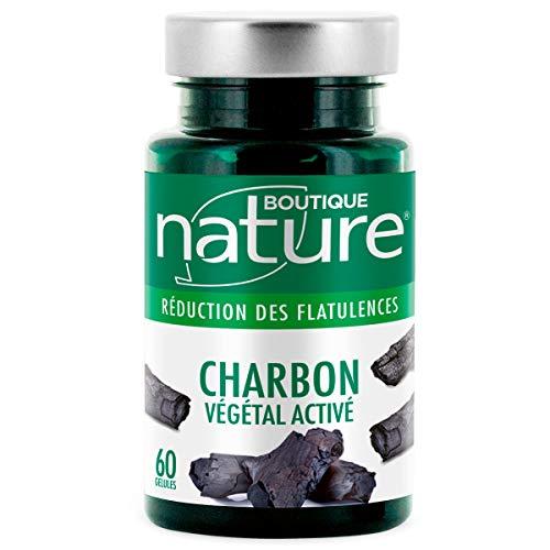 Boutique Nature - Complément Alimentaire - Charbon Végétal Activé - 60 Gélules Végétales - Digestion Facile