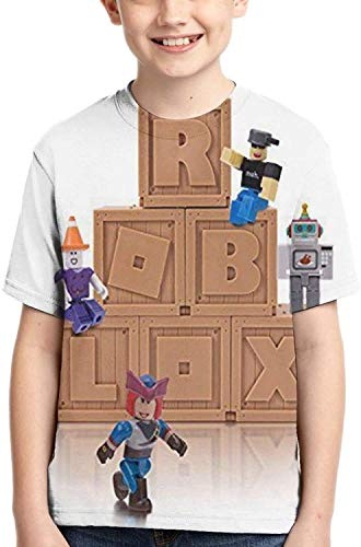 XCNGG Niños Tops Camisetas Top of The Line Logo Youth Ro-bl-ox Short Sleeve T-Shirt Best Gift Evers