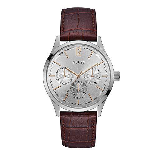 GUESS Regent Reloj de hombre cuarzo 42mm correa de cuero caja de acero