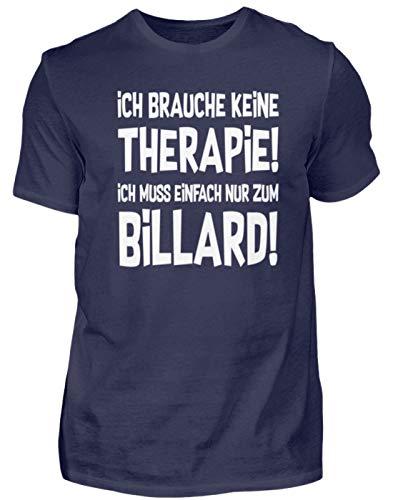 Snooker: Therapie? Lieber Billard - Herren Shirt -M-Dunkel-Blau