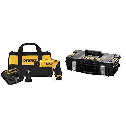DEWALT DCF680N2 8V Max Gyroscopic Screwdriver 2 Battery Kit with DEWALT DWST08201 Tough System Case, Small
