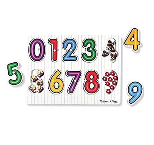 Melissa & Doug- See-Inside Numbers Peg Juego Puzzle con