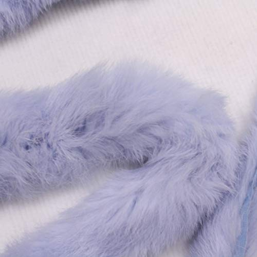 kawenSTOFFE Echtfell Verbrämung Hellblau Babyblau Kaninchen Paspelband Borte Einfaßband