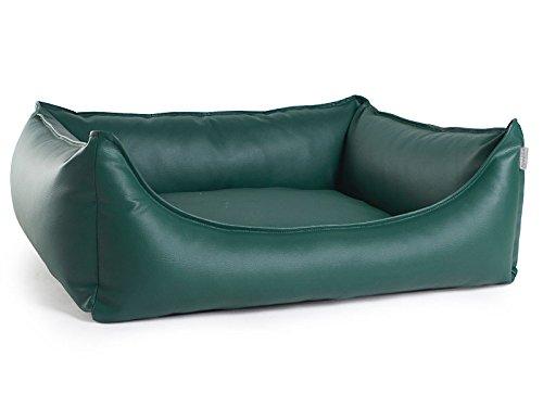PadsForAll Hundebett, Hundesofa Dreamy Kunstleder in dunkelgrün, 3 Größen