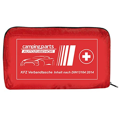 Auto Verbandskasten Verbandstasche KFZ Fahrzeug Zubehör Reise Verbandtasche DIN 13164 Rot | first aid kit, red