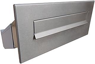D-042 roestvrij staal muurdoorwerp brievenbus (diepte: 35-50 cm) - LETTERBOX24.de