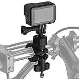 AuyKoo Soporte Monturas Bicicleta/Moto para GoPro, Adaptador de Manillar Motocicleta Bike,Tija y Montaje de Barra Accesorios para GoPro Hero 10 9 8 7 6 5 4 3,SJCAM,Sony,Insta360,dji OSMO,AKASO,Sargo