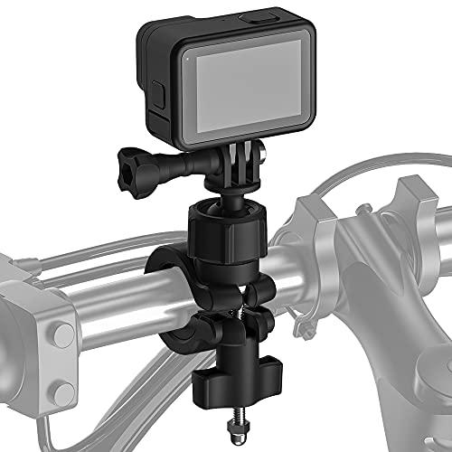 AuyKoo Motorrad Fahrradhalterung Halterung Action-Kamera-Lenkerhalterung Fahrradhalter 360° Rotation für GoPro Hero 10/9/8/7/6 Insta360 DJI Osmo
