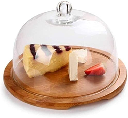Cake Plate Lowest price Under blast sales challenge for Display Stand Dessert with Dome Plat Wooden