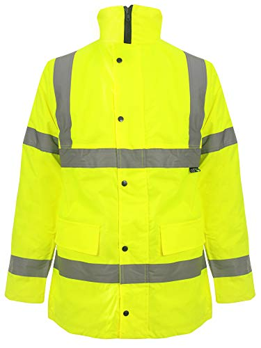 Love My Fashions® mannen jassen hoog zicht waterdicht gewatteerd stijlvol winterwarm verborgen causal capuchon jas geel oversized