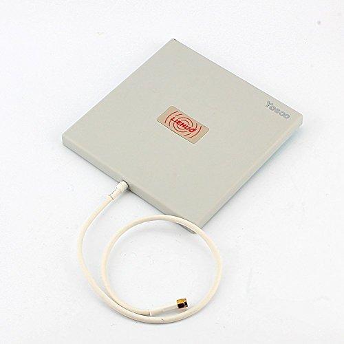 Yosoo Richtantenne Panel Außenbeleuchtung, 2.4 GHz, 14 dBi, Hohe Verstärkung Wifi Wlan Richt Extender Lange Reichweite, weiß