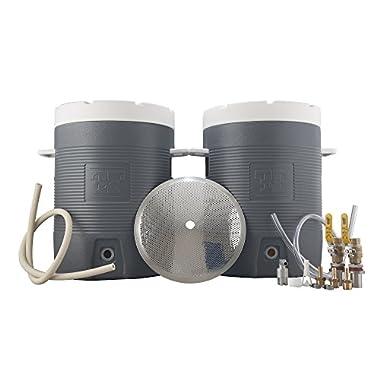 Northern Brewer - Fermenter's Favorites 10 Gallon Insulated Cooler Essential All Grain Beer Brewing Equipment Starter Kit With Hot Liquor Tank & Mash Tun