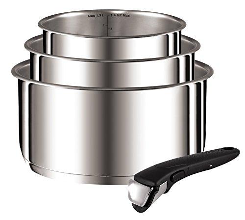 Tefal-L9419502-Ingenio Preference casseroles 16/18/20 cm + 1 Poignée Inox Non Revêtues Tous Feux Dont Induction ( contient 4 pièces )