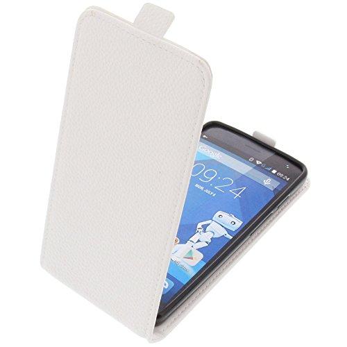 foto-kontor Tasche für Haier Voyage G31 Smartphone Flipstyle Schutz Hülle weiß