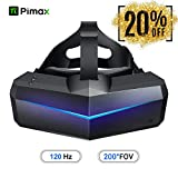 VR Headset, Pimax 5K Plus 120Hz Refresh Rate Virtual Reality Headset with Wide 200°FOV, Dual 2560x1440p RGB...