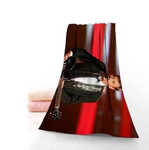 chinawh Toallas Johnny Hallyday Toallas de baño de Microfibra de Viaje, Playa, Toalla de Cara Toalla Creativa Personalizada 70X140cm