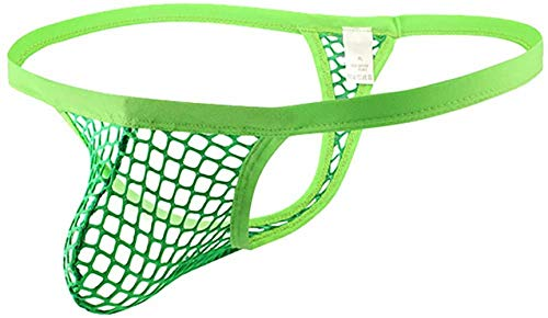 Naturemore Underwear Sexy Clever Men's Mesh Thong Green, Small
