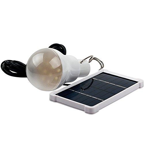 150LM 2.5W Lampe Solaire Extérieur, Ampoule Portable LED éclairage en Plein Air Camping Tente Pêche avec Panneau solaire (150 LM)