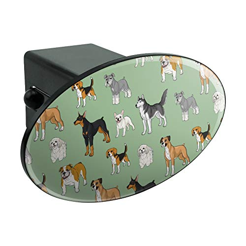 Graphics and More Plenty of Dogs Pattern Oval Tow Trailer Hitch Cover Plug Insert