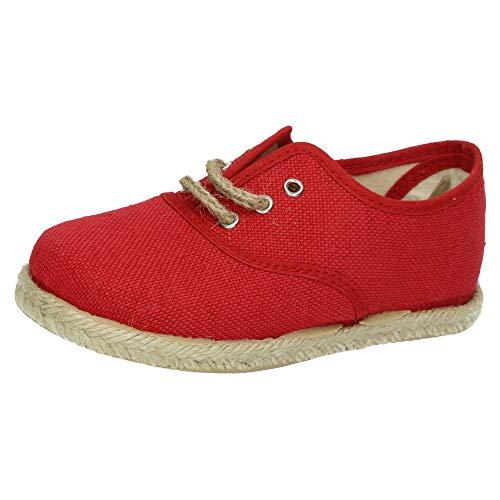 MADE IN SPAIN 260/L ESPARTEÑAS DE Lona NIÑO Zapatillas Rojo 22
