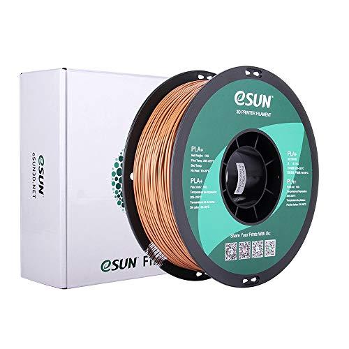 eSUN PLA+ Filament 1.75mm, PLA Plus 3D Printer Filament, Dimensional Accuracy +/- 0.03mm, 1KG (2.2 LBS) Spool 3D Printing Filament for 3D Printers, Light Brown