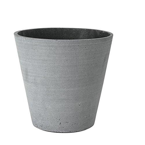 Blomus Coluna Flower Pots in Various Sizes Dark Grey Diameter, 26 cm - 24 cm (h)