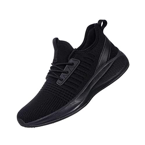 SDolphin Zapatos para mujer, ultra ligeros, transpirables, de malla atlética, para gimnasio, trotar, viajes, trabajo, (Nuevo todo negro), 38 EU