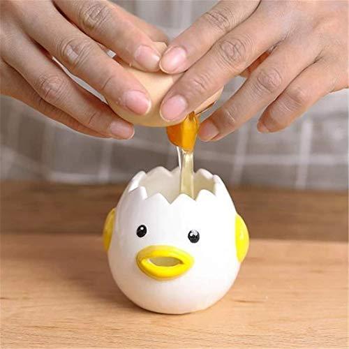Cartoon Chick Ceramic Egg Divider White Egg Yolk Separator Creative Egg Liquid Filter Baking Utensils Egg Holder Kitchen Supply