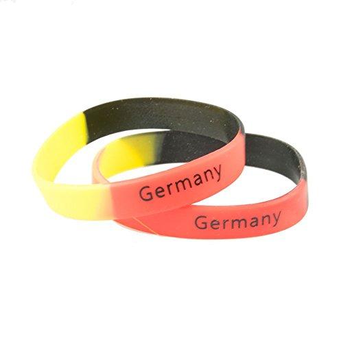 UMOI Fanartikel, Fanset Deutschland EM, WM, Fanpaket zur Europameisterschaft 2016, Schminke, Fahnen, Brille, Pfeife, Hut, Autofahne, Bandana, Tattoos, Fingernägel, Caxirola … (Armbänder)