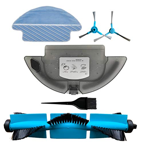 REYEE 1x Tanque de Agua + 1x paño de fregona + 2 Cepillo Lateral + 1 Cepillo Principal + 1 Pincel para Cecotec Conga Serie 3090 Robot Aspirador Repuestos para Tanque de Agua