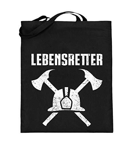 Chorchester Lebensretter für Feuerwehr-Leute - Jutebeutel (mit langen Henkeln)