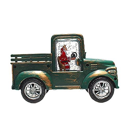Ltervoercaern Linterna de decoración navideña, pequeña lámpara de Aceite, Adornos para Camiones, Luces, Mesa de jardín, decoración de Escritorio (Verde Oscuro)