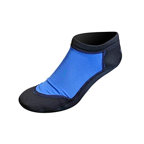 Tilos Low Cut Sport Skin Socks for The Beach: A for Everything on The Sand; Water Sports, Snorkeling, and Diving (Blue, Small)