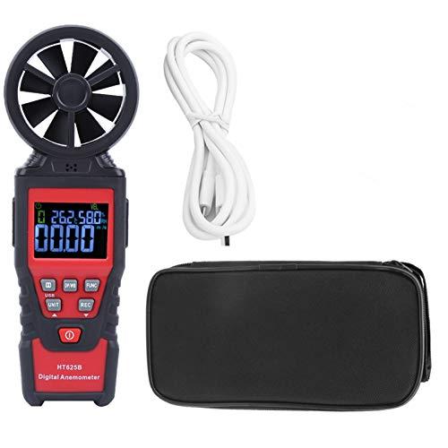 Anemómetro Digital HT625B, Medidor de Mano, Medidor de Flujo de Aire, Medidor de Velocidad del Viento, Medidor de Temperatura y Humedad