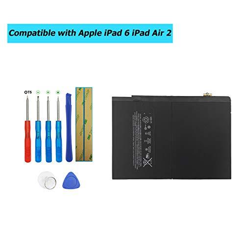 Upplus A1547 Ersatz Akku Kompatibel Für iPad A1566/A1567 iPad 6 iPad Air 2 iPad Air 2 WiFi 7300mAh with Toolkit