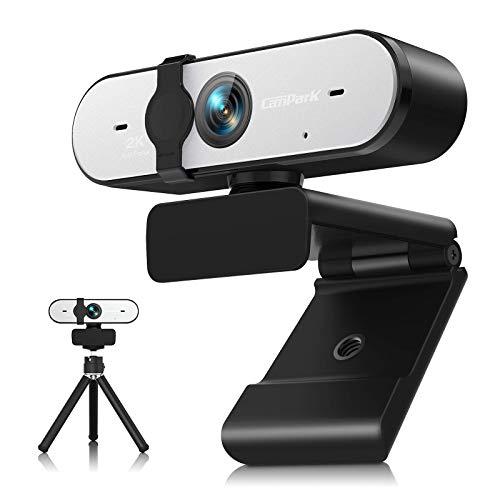 Campark 2K Webcam mit Mikrofon,HD Webcam für PC,Laptop,Desktop,USB Webcam mit Abdeckung und Stativ,Kompatibel mit Windows, Mac Chrome OS und Android,Für Skype-Chat/Videokonferenz/Online-Bildung