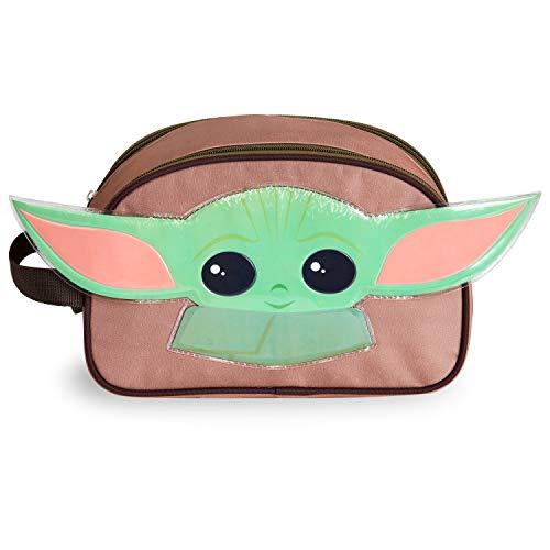 Star Wars Neceser para niños, neceser con diseño Mandalorian Baby Yoda 3D orejas de Yoda, accesorios de viaje para niños, artículos oficiales regalos para niños y adolescentes