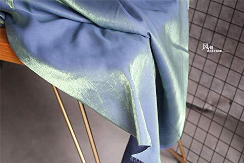 Meterware als Dekostoff- Seidensatin Cheongsam Lihan Kleid Rock Futter Futter Stoff, (0,5 M