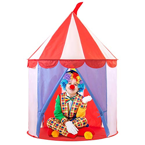 Kids Circus Play Tent for Girls or Boys - Foldable Pop Up Playhouse for Children with Carrying Case - House Toy for Indoor & Outdoor Use - Girls or Kids Toys (Circus Tent)