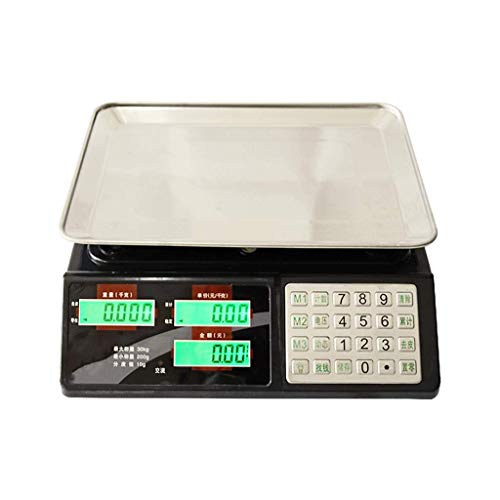 ZCY elektronische schaal, zeer nauwkeurige 30 kg stalen knop platform Pricing openbare stad pond tabel gewicht 1 g2 gram groente