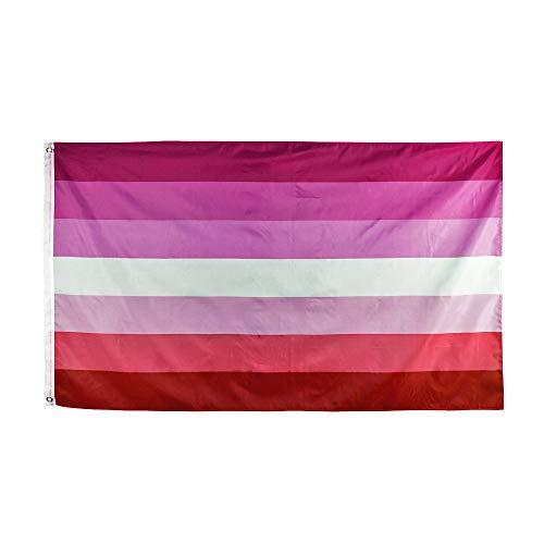 FLAGLINK Lesbian Pride Flag - 3x5 Fts - LGBT Rainbow Banner