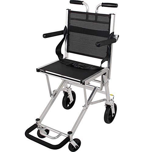 Transportrolstoel Opvouwbaar Lichtgewicht rollator Aluminium Mobiele hulpmiddelen Fauteuils Trolleys voor buiten Opvouwbare rolstoel voor reizen en opslag