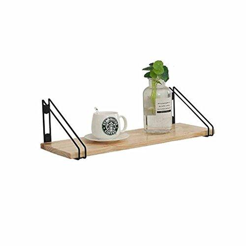 CHUDAN+ Wandmontage Zwevende Plank Metalen Bloem Plant Opslag Decoratie Display Plank Plank Plank Beugel Ophangen Bloempot Partitie Eenheid Frame Woonkamer Balkon IJzer + Hout
