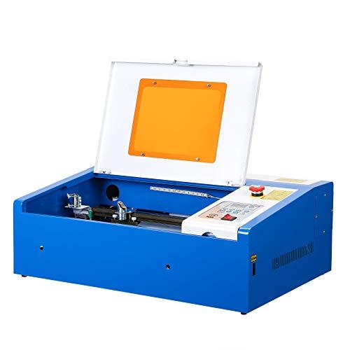 Sfeomi CO2 Máquina de Grabado Láser 300 x 200 mm Grabador de Láser 40W Grabador con Puerto USB Laser Engraving Machine para Vidrio, Madera, Plástico, Cuero, etc