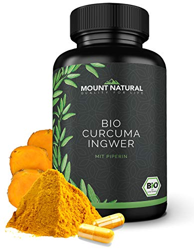 Curcuma & Ingwer & Pfeffer (180 Kapseln), NEUARTIGE KURKUMA KOMBINATION: Curcumin & Gingerol & Piperin. Hochdosiert, vegan, laborgeprüft ohne Zusatzstoffe
