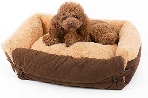 WYJW Hypoallergeen Hond Bed Grote Hond Test voor Hond Bed Teddy Beer Wasbare Baby Bed wieg (Kleur: BROWN, Maat: S)